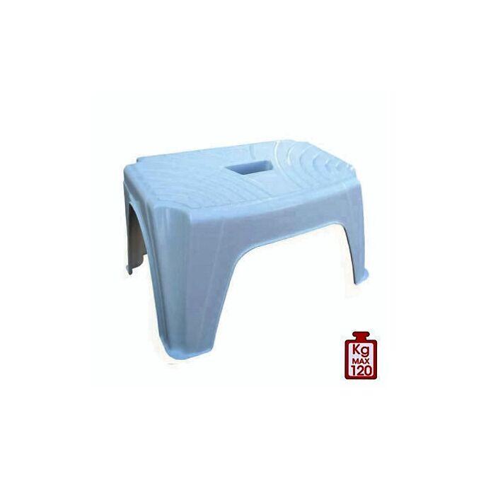 Σκαμπό Πλαστικό 38x24.5x22cm STEP1 Λευκό BAMA