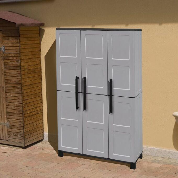 Πλαστική Ντουλάπα 24kg 102x37x169cm 5 Χώρων 3φυλλη 6 πόδια ARTPLAST IDEA LINE