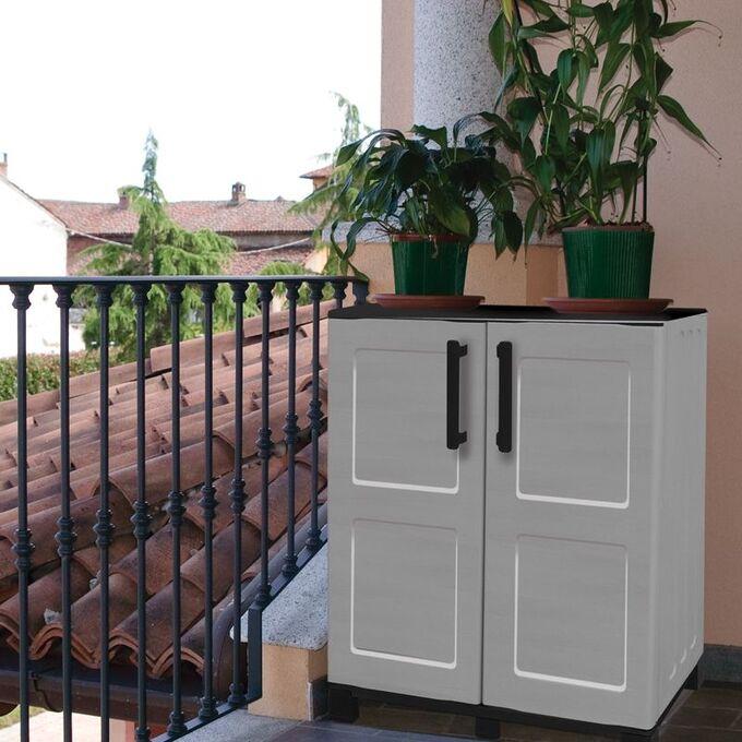 Πλαστική Ντουλάπα με Μεταλλικούς Μεντεσέδες 9kg 68x37x90cm 2 Χώρων 2φυλλη 6 πόδια ARTPLAST IDEA LINE