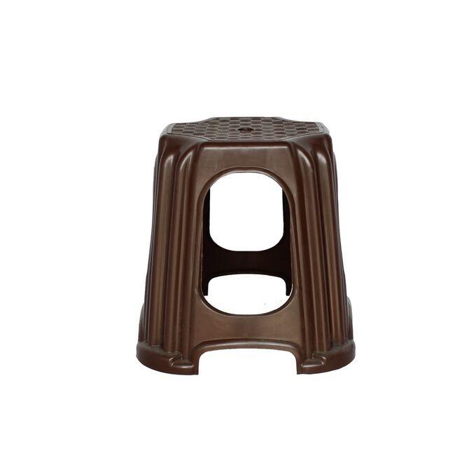 Σκαμπό Πλαστικό Παιδικό Βαρύ 26x26x32 Αντοχή 100kg Καφέ Σκούρο