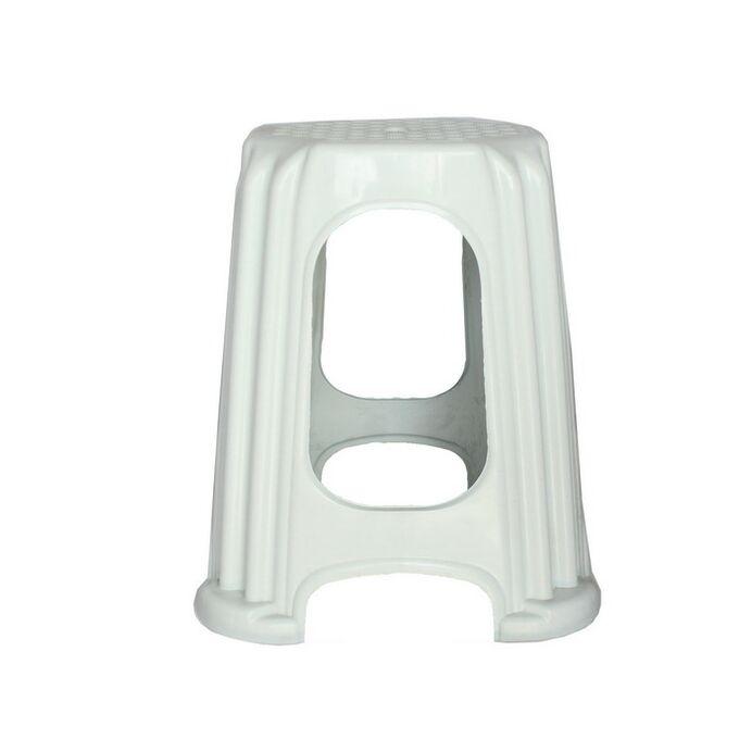 Σκαμπό Πλαστικό Βαρύ 29x29x45cm Aντοχή 120kg Λευκό