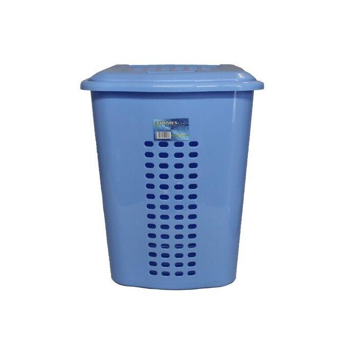 Καλάθι Απλύτων 52lt 43x36x55cm Πλαστικό Θαλασσί