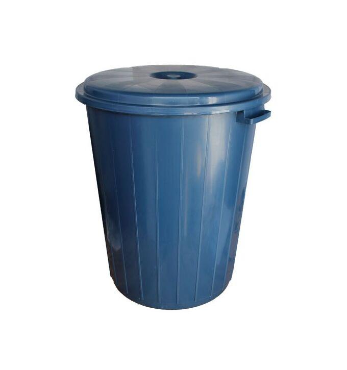 Kάδος Απορριμμάτων 90lt Ø53x61cm Πλαστικός με Καπάκι 2.3Kg Κουζίνας-Επαγγελματικός Μπλε