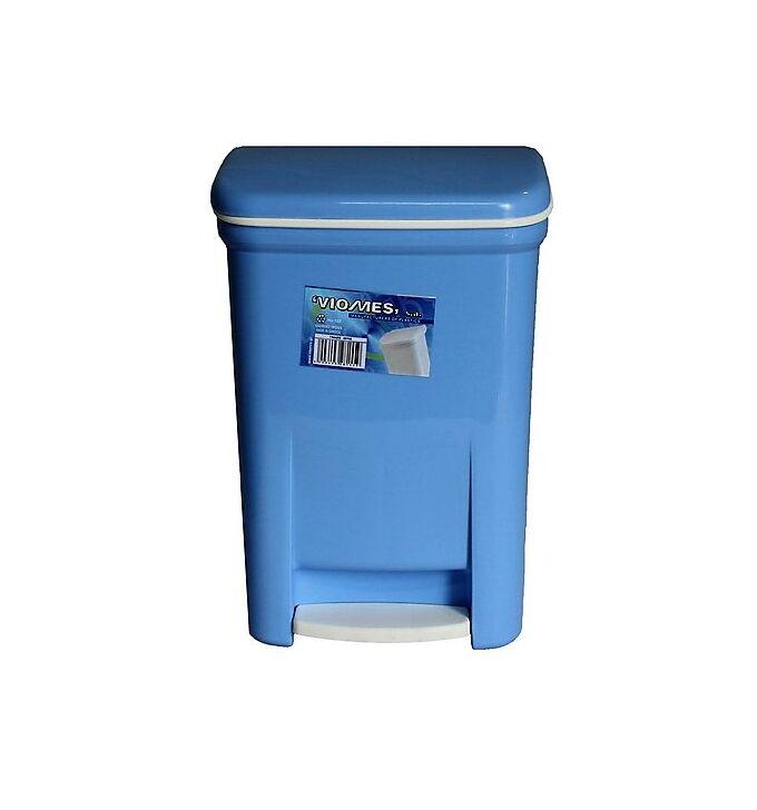 Κάδος Μπάνιου Πεντάλ 13.5lt 25x22x32cm Εσωτερικό Κάδο 7lt 18x18x24cm  Πλαστικός Γαλάζιος VIOMES Ελλάδας