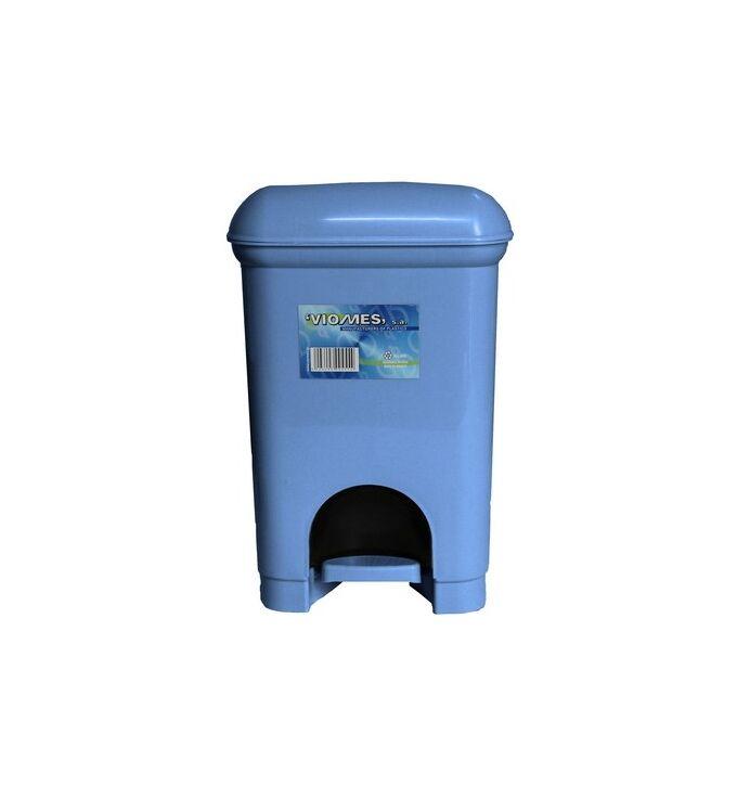 Κάδος Μπάνιου Πεντάλ 12.5lt 21x22x30cm Εσωτερικό Κάδο 6lt 17x18x23cm Πλαστικός Γαλάζιος Ελλάδας
