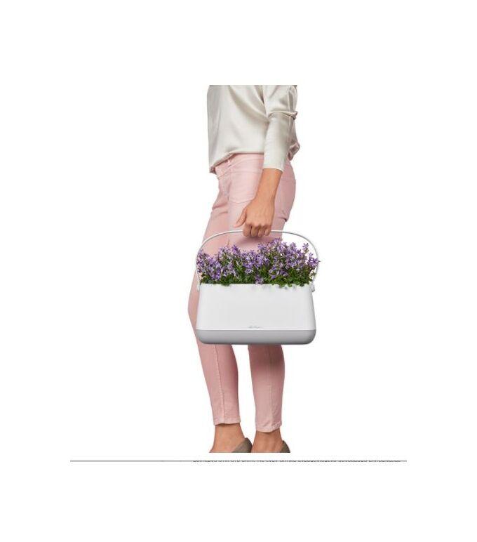 LECHUZA YULA Ζαρντινιέρα-Κασπώ 38x17x18cm Αυτοποτιζόμενη Λευκό-Λαχανί Γερμανίας