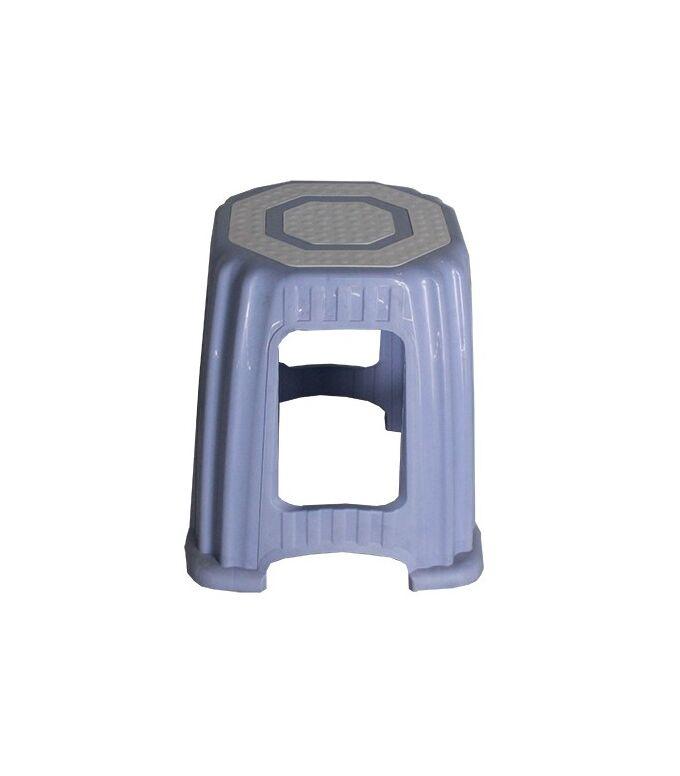 Σκαμπό Πλαστικό 33x33x32cm Βάρος 0.79kg Αντοχή 75kg Γαλάζιο-Λευκό