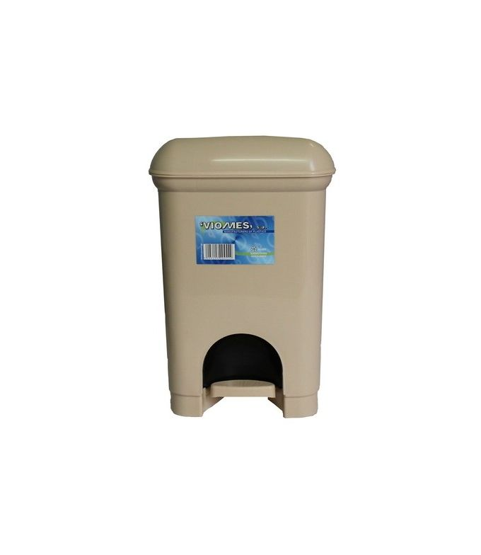 Κάδος Μπάνιου Πεντάλ 12.5lt 21x22x30cm Εσωτερικό Κάδο 6lt 17x18x23cm Πλαστικός Μπεζ Ελλάδας