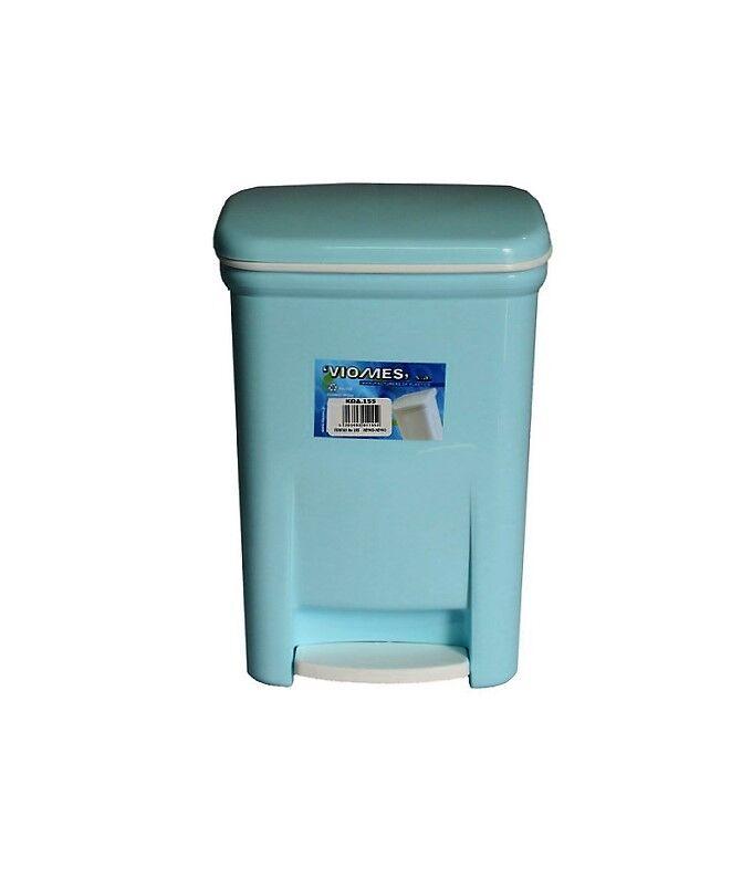 Κάδος Μπάνιου Πεντάλ 13.5lt 25x22x32cm Εσωτερικό Κάδο 7lt 18x18x24cm Πλαστικός Σιέλ VIOMES Ελλάδας