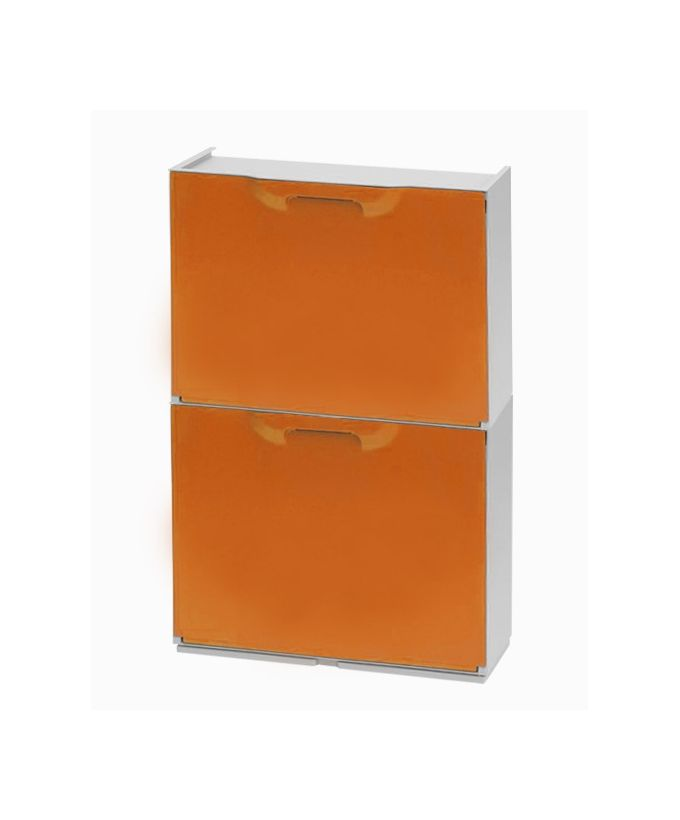 Παπουτσοθήκη Πλαστική Συναρμολογούμενη 2σε1 Σύνθεση 51x17.3x82cm UNIKA Πορτοκαλί ARTPLAST Ιταλίας