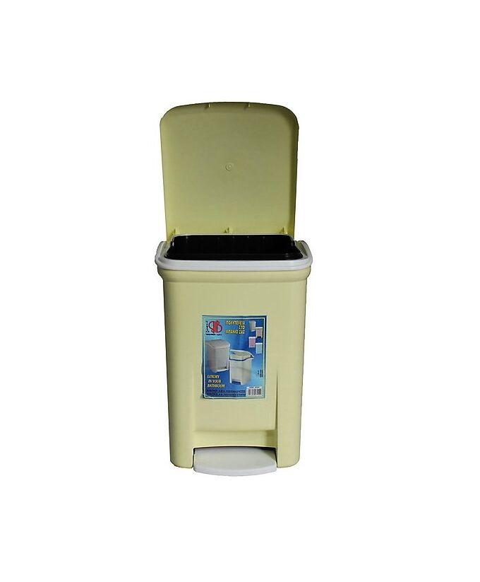Κάδος Μπάνιου Πεντάλ 13.5lt 25x22x32cm Εσωτερικό Κάδο 7lt 18x18x24cm Πλαστικός Κρεμ VIOMES Ελλάδας