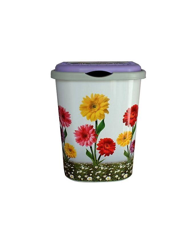 Καλάθι Απλύτων 55lt 42.5x32x54cm Decor Λουλούδια