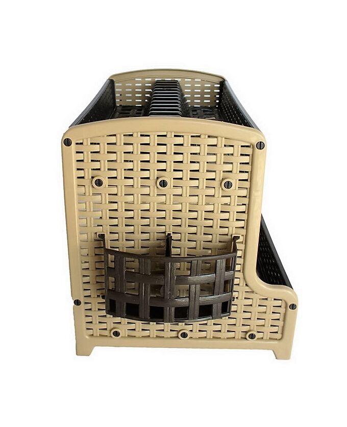Στεγνωτήρι Πιάτων 2όροφο RATTAN Μπεζ-καφέ