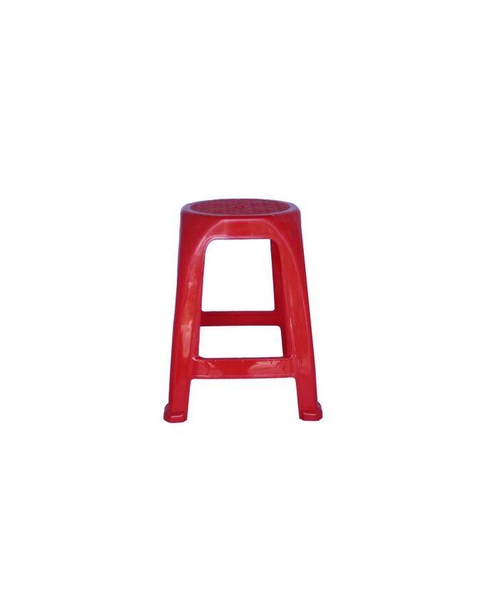 Σκαμπό Τετράγωνο Πλαστικό Κόκκινο