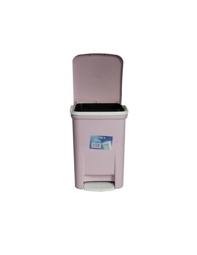 Κάδος Μπάνιου Πεντάλ 13.5lt 25x22x32cm Εσωτερικό Κάδο 7lt 18x18x24cm Πλαστικός Ροζ VIOMES Ελλάδας