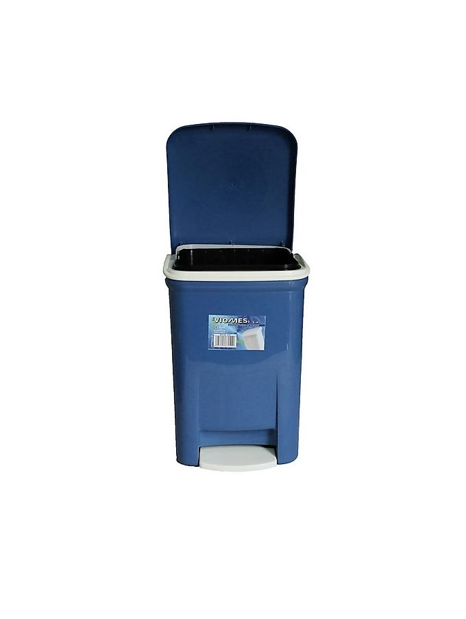 Κάδος Μπάνιου Πεντάλ 13.5lt 25x22x32cm Εσωτερικό Κάδο 7lt 18x18x24cm  Πλαστικός Μπλε VIOMES Ελλάδας