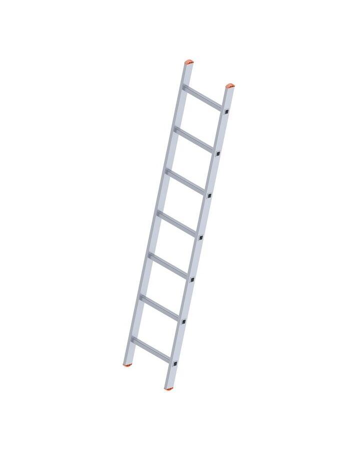 Σκάλα Αλουμινίου 1x7 Σκαλιά Επαγγελματική 193cm Μονή 3.2kg Αντοχή 150kg
