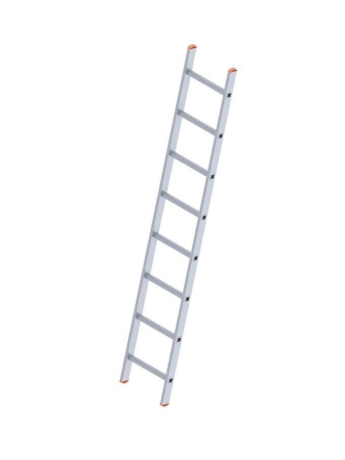 Σκάλα Αλουμινίου 1x8 Σκαλιά Επαγγελματική 220cm Μονή 3.45kg Αντοχή 150kg