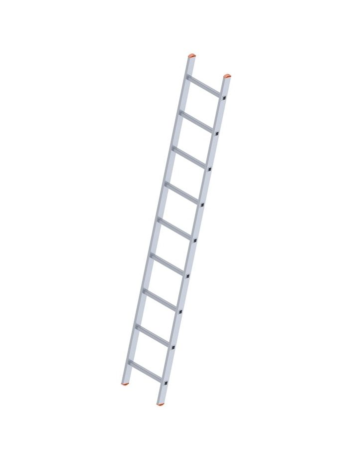 Σκάλα Αλουμινίου 1x9 Σκαλιά Επαγγελματική 247cm Μονή 4kg Αντοχή 150kg SN7109