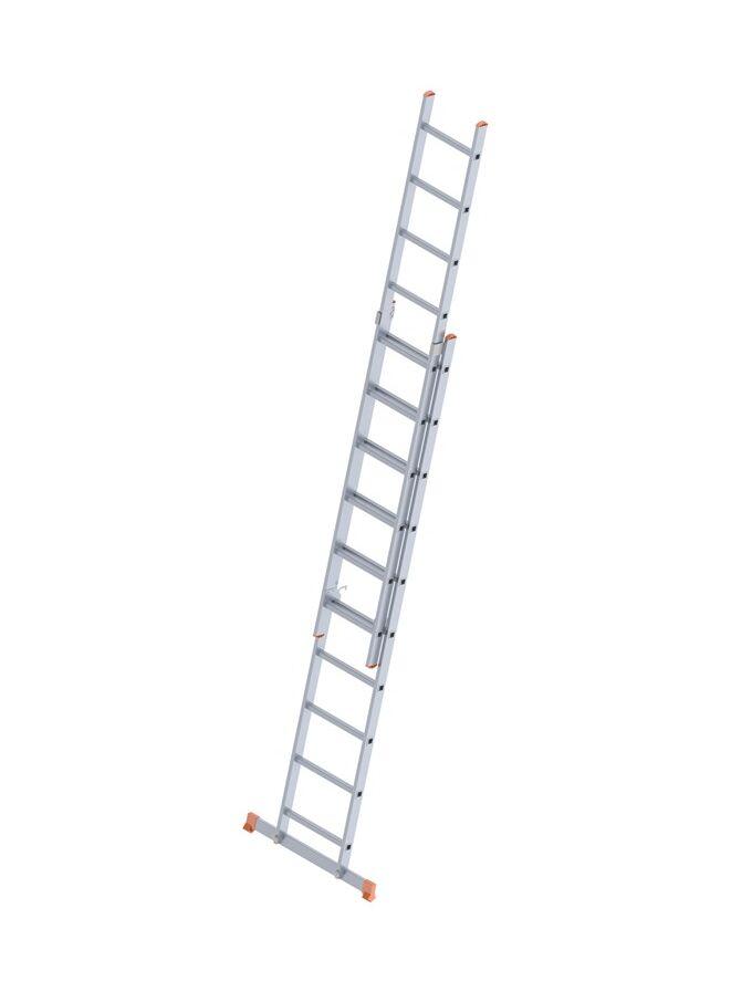 Σκάλα Αλουμινίου 2x10 Σκαλιά Αναπτυσσόμενη 4,63m  Διπλή-Σχήμα ''Λ'' με Βάση Στηρίγματος 11,20kg Αντοχή 150kg SN7210