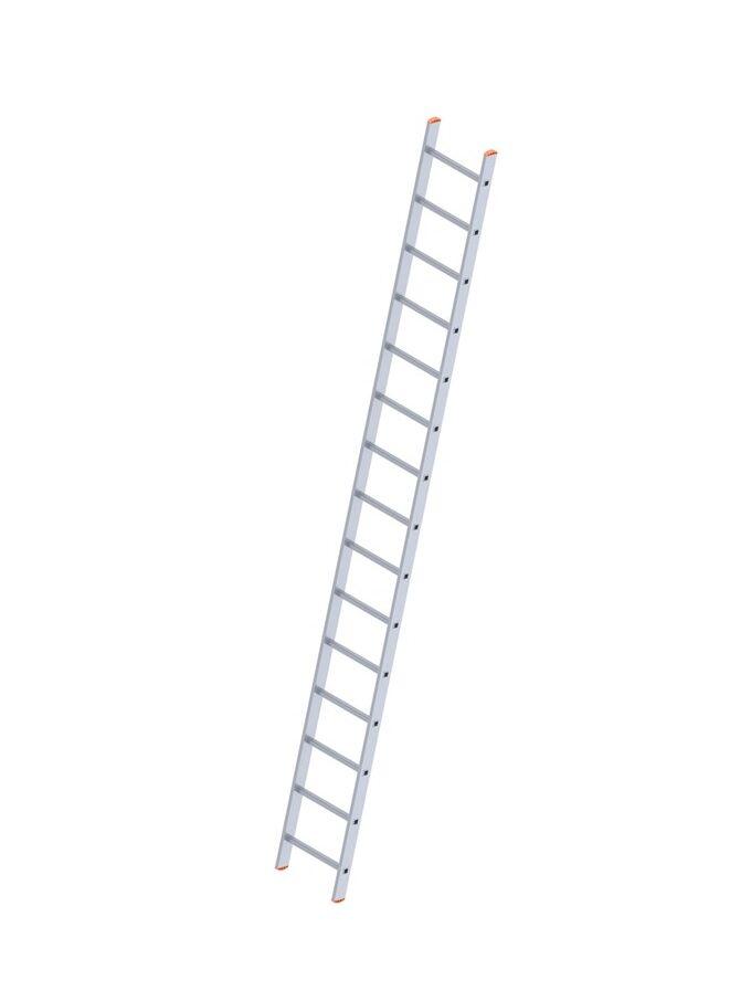 Σκάλα Αλουμινίου 1x14 Σκαλιά Επαγγελματική 382cm Μονή 7.3kg Αντοχή 150kg SN7114