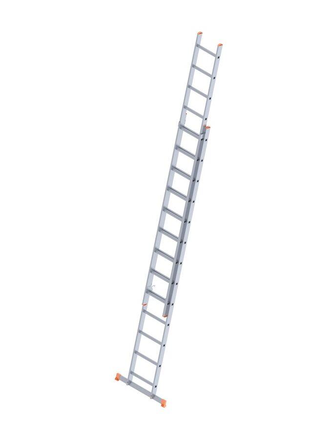 Σκάλα Αλουμινίου 2x13 Σκαλιά Αναπτυσσόμενη 6.25m Διπλή-Σχήμα ''Λ'' με Βάση Στηρίγματος 14.2kg Αντοχή 150kg SN7213