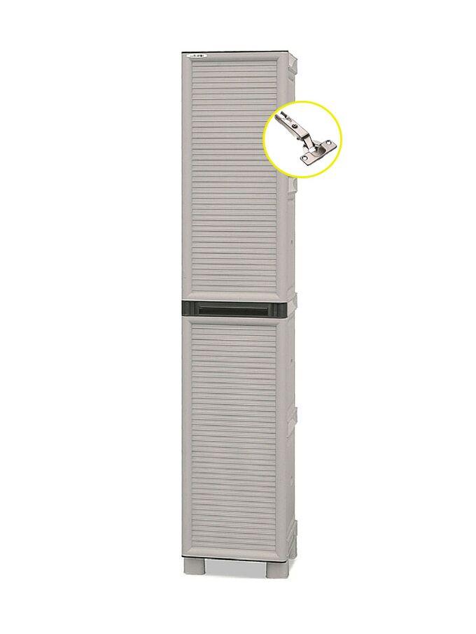 Πλαστική Ντουλάπα 12,5kg 35X39X172 MASSIF Μονόφυλλη 4 Χώρων ARTPLAST CONCERT LINE