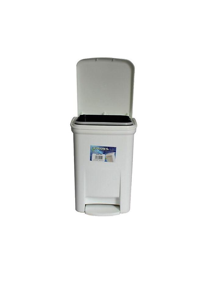 Κάδος Μπάνιου Πεντάλ 13.5lt 25x22x32cm Εσωτερικό Κάδο 7lt 18x18x24cm Πλαστικός Λευκός VIOMES Ελλάδας